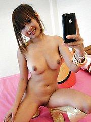 Pretty Thai model wants to be a porn star takes self pics