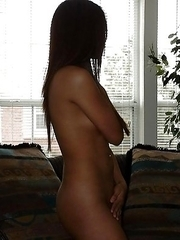 Cute asian angel posing totally naked