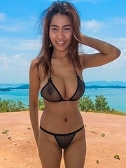 Busty Thai Tittiporn fucking outdoors