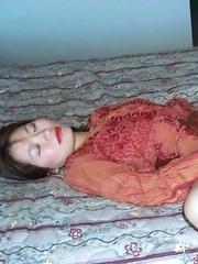 Horny Asian girlfriends masturbating